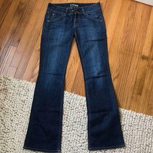 Wide leg designer jeans